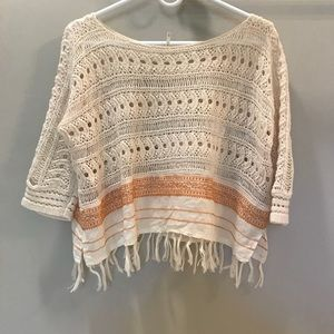 Free People crotchet sweater